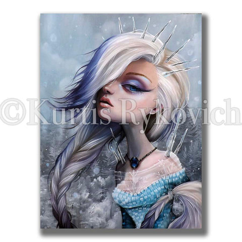 Elsa Canvas( Hand Embelllished)