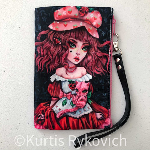 Strawberry Shortcake Cosmetic Bag Wristlet
