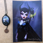 Maleficent Necklace and Print