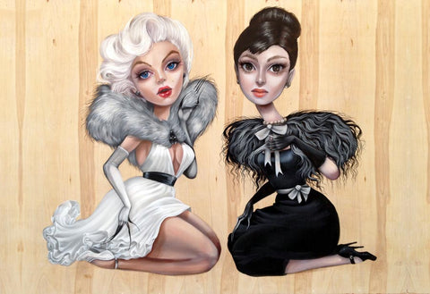 Marilyn and Audrey