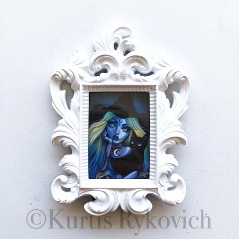Indigo Mini Canvas Framed