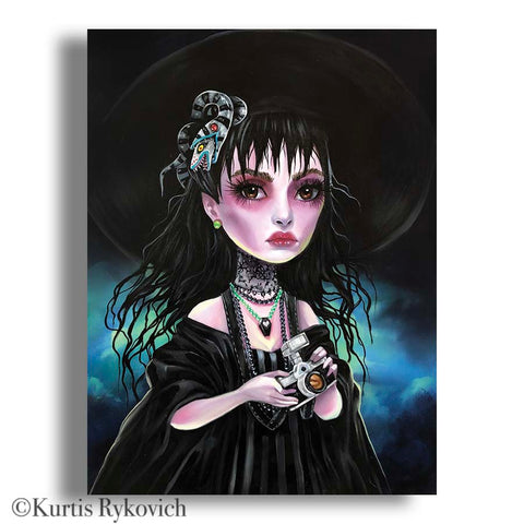Lydia  Canvas Print ( Hand Embelllished)
