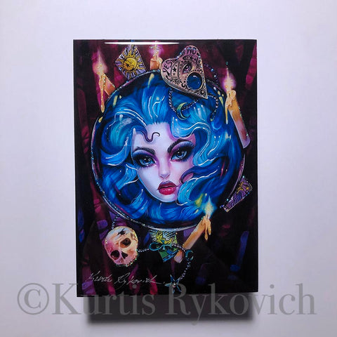 Madame Leota Wood Print ( Hand Embelished)