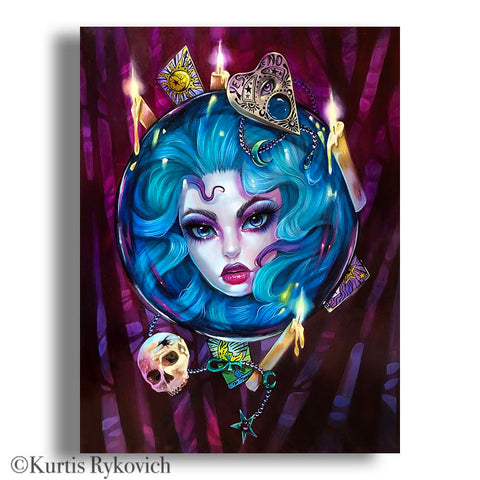 Madam Leota Canvas Print ( Hand Embelllished)