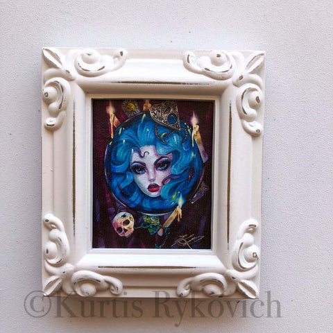 Madame Leota Mini Canvas Framed