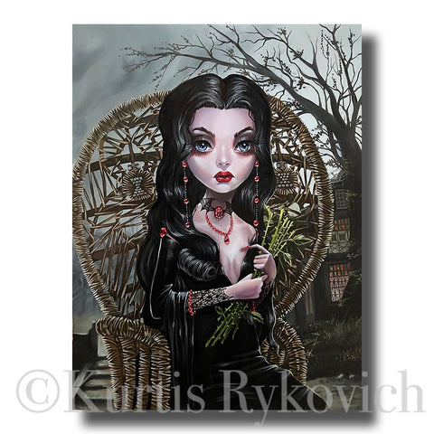 Morticia Canvas ( Hand Embelllished)