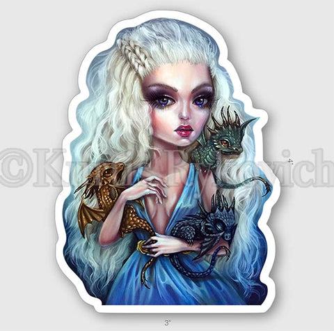 "Mother of Dragons 4"" Sticker"
