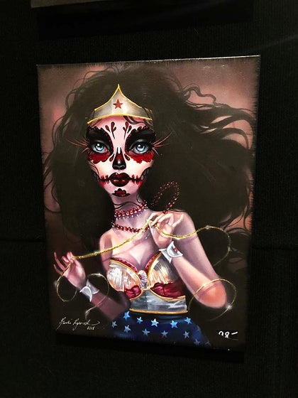 Wonder Woman Canvas( Hand Embelllished)only a 1 of 1!