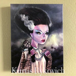 Bride of Frankie Canvas Print ( Hand Embelllished)