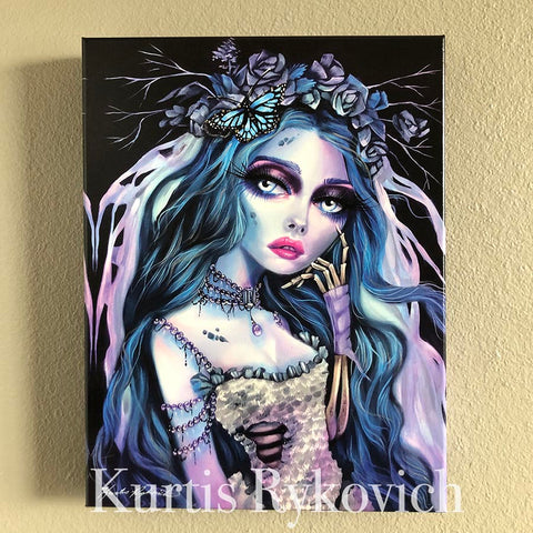Emily Canvas Print ( Hand Embelllished)