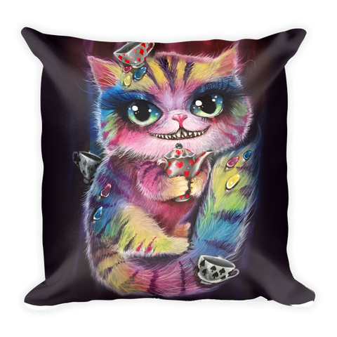 Cheshire / White Rabbit Pillow