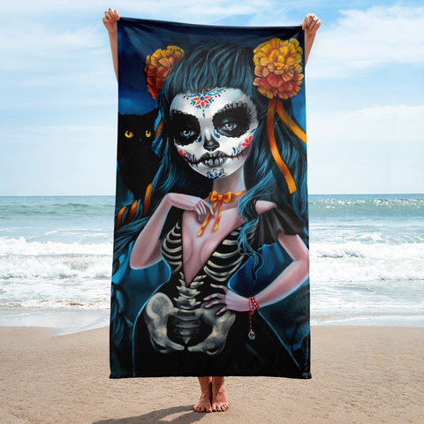 Calavera Beach Towel
