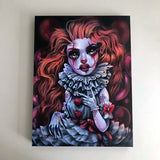 Pennywise Canvas Print ( Hand Embelllished)
