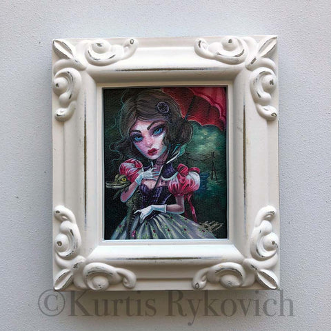 Tightrope Girl Mini Canvas Framed