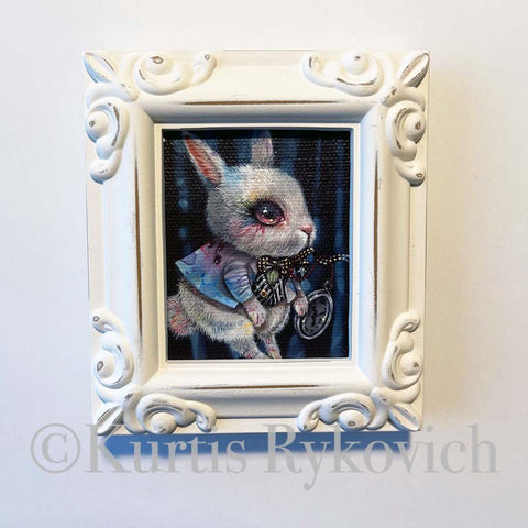 White Rabbit Framed Mini