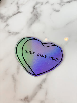 Self Care Club Holographic Sticker