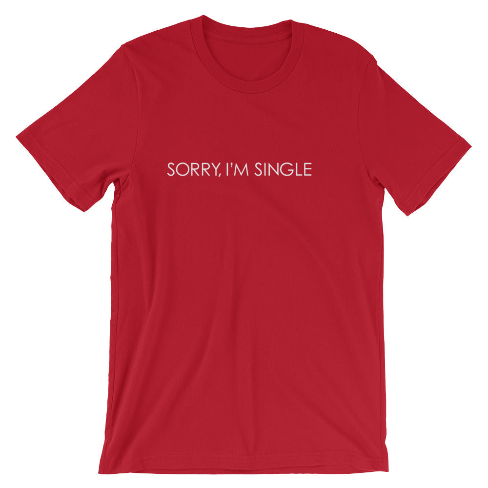 Sorry I'm Single @thehandyj T-shirt white