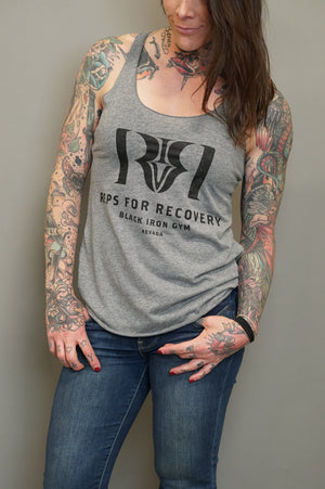 Reps 4 Recovery Tank in Heather Gray