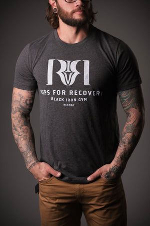 Reps 4 Recovery Tee in Charcoal
