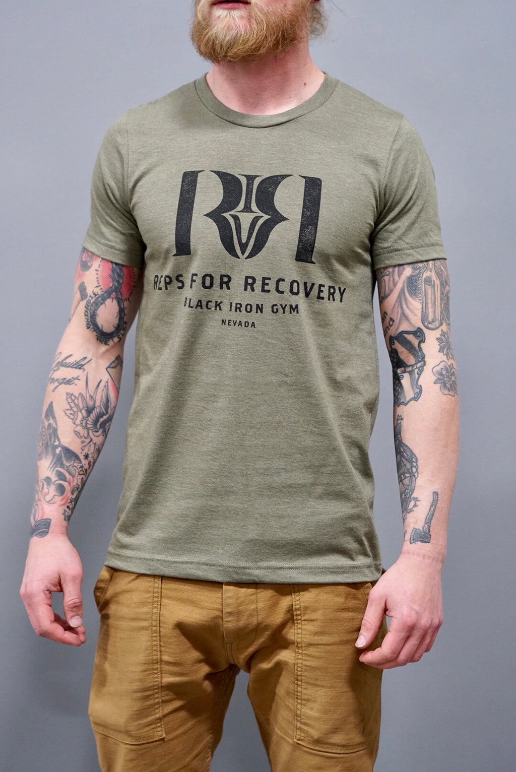 Reps 4 Recovery Tee in Olive