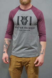 Reps 4 Recovery Raglan in Maroon