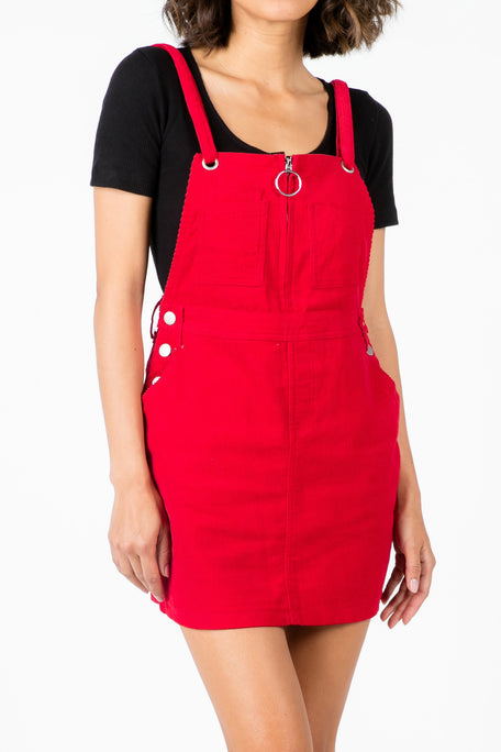 MILLIE BOBBY CORDUROY OVERALL DRESS