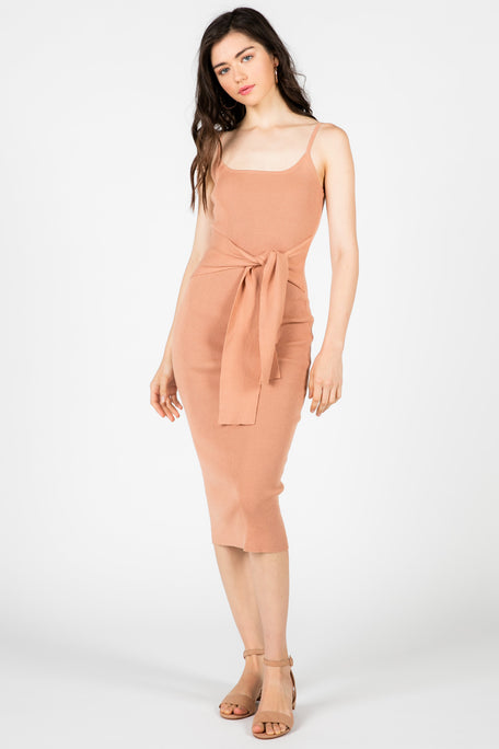 HONEY RIB KNIT BODYCON DRESS