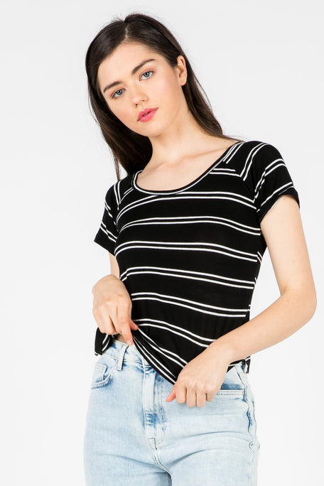 GOOD FEELING STRIPE TOP