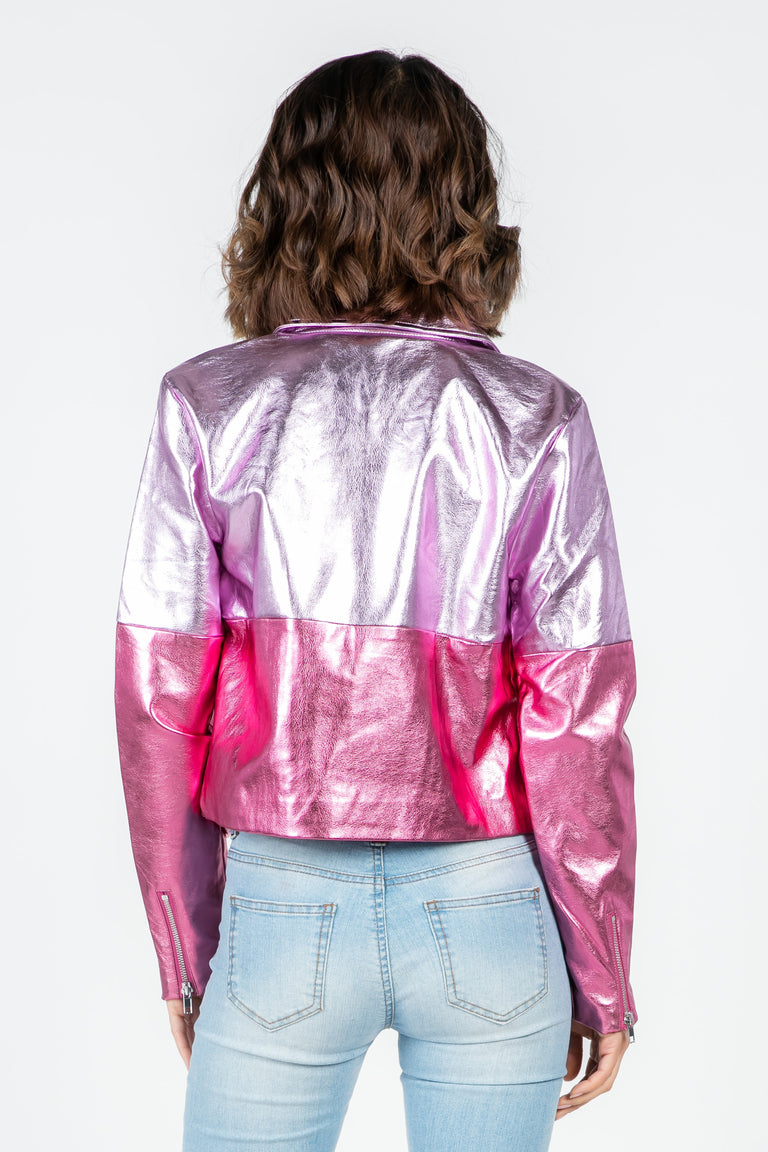 STARDUST VEGAN LEATHER MOTO JACKET