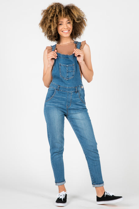 BLUE PRINT PANT OVERALLS