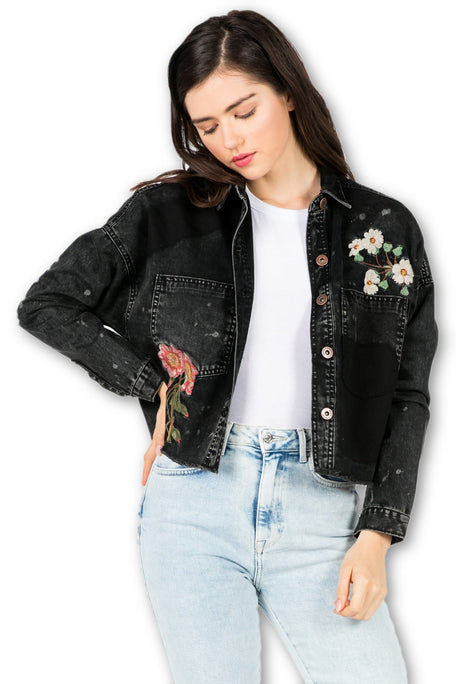 COMO LA FLOR EMBROIDER JACKET