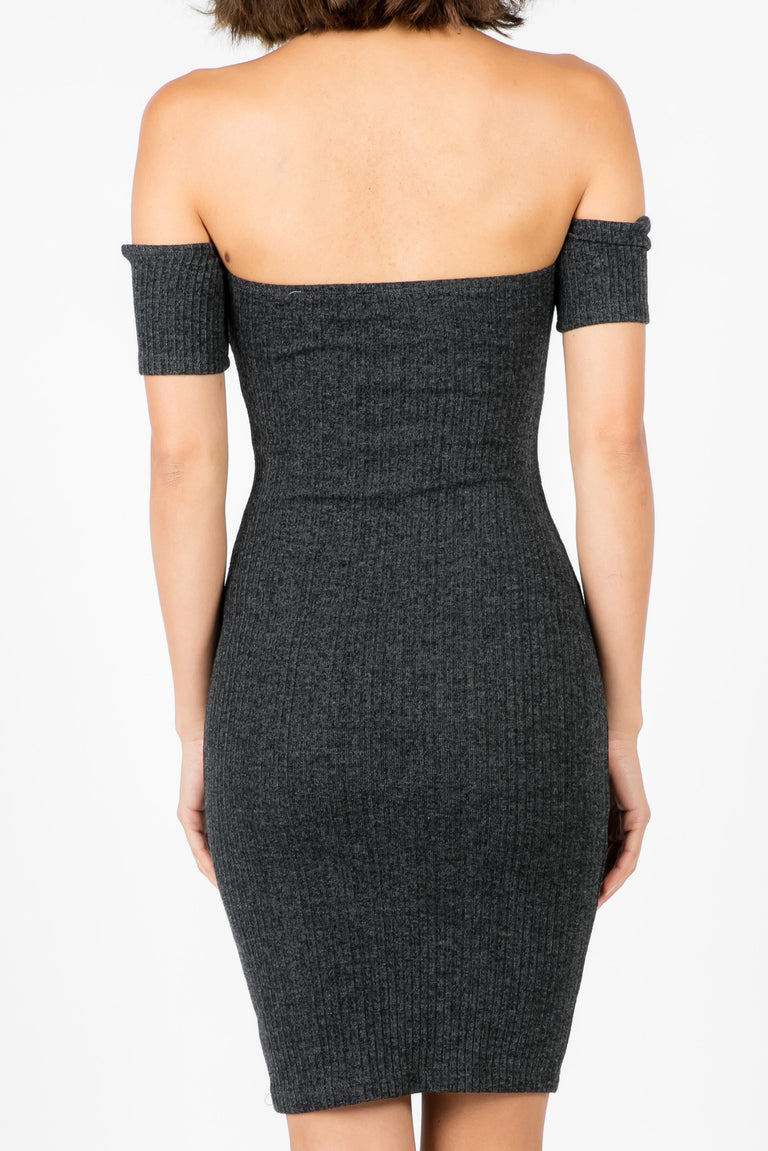 LOST AND FOUND OFF SHOULDER DRESS