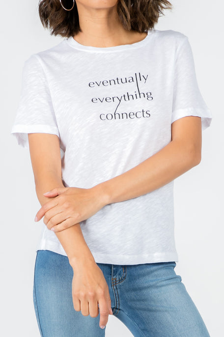 EVENTUALLY EVERYTHING CONNECTS GRAPHIC T-SHIRT