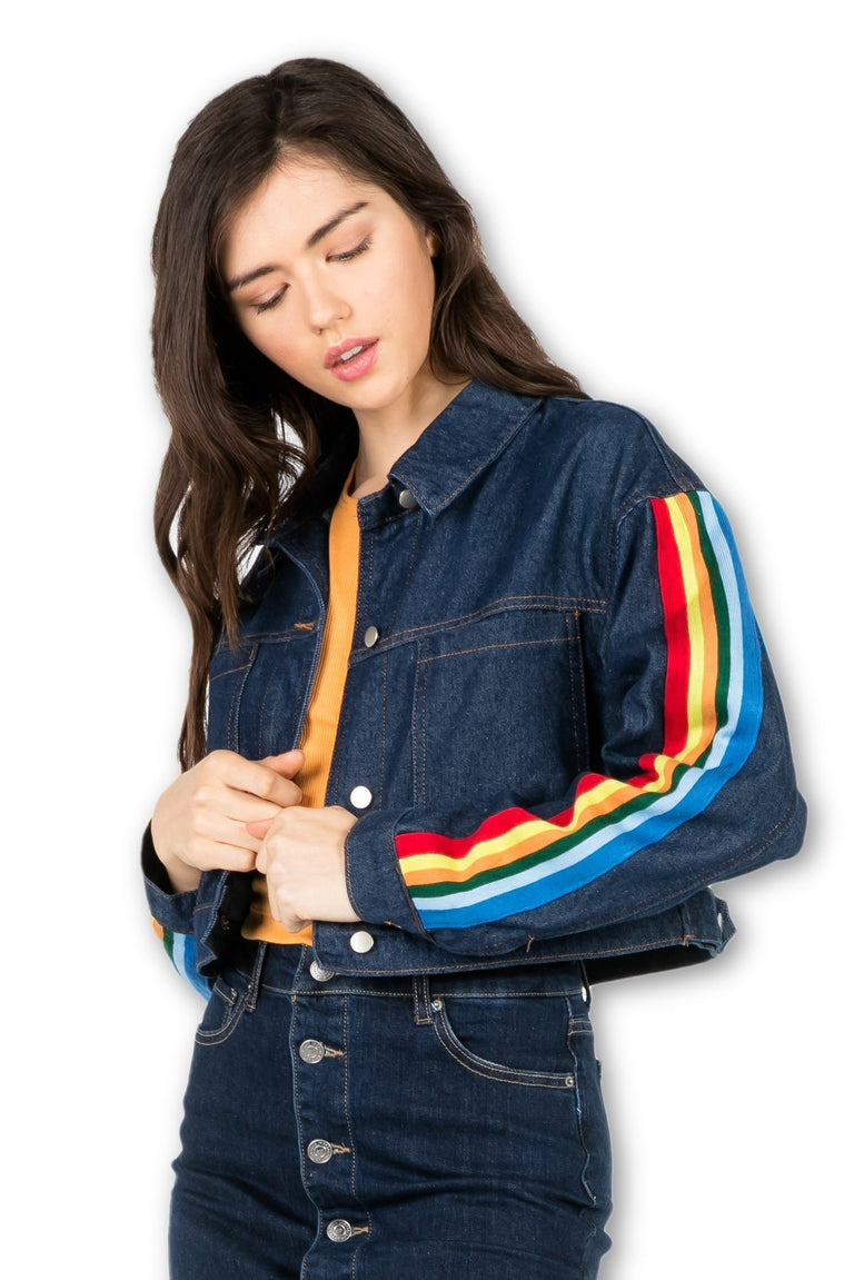 CHASING COLORS CROPPED JACKET