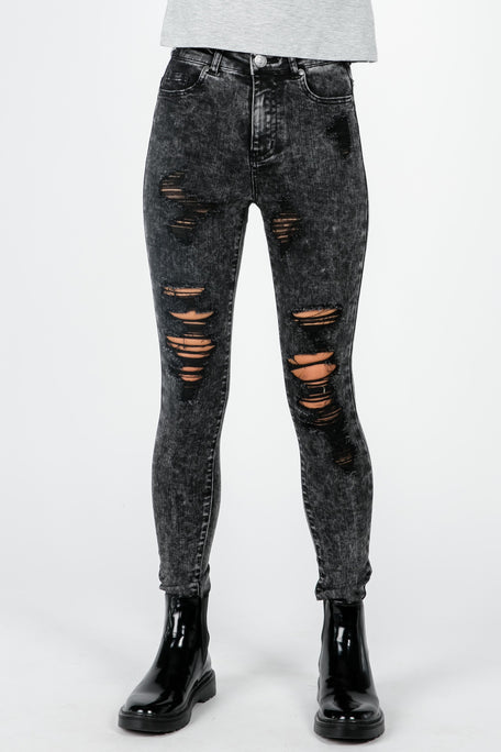PIECES OF ME DISTRESSED ACID PANT