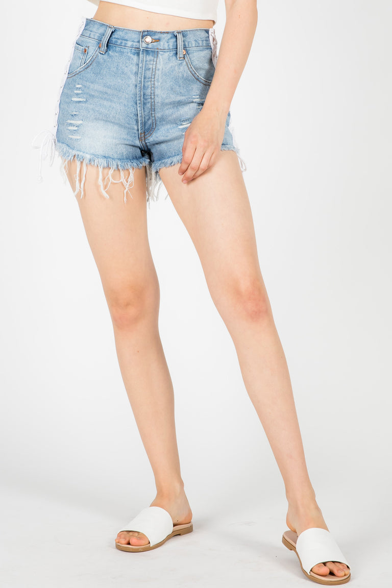 LUCKY STRIKE SIDE LACE-UP SHORT