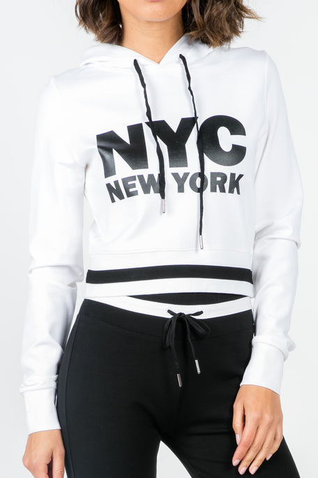 EMPIRE STATE OF MIND WHITE HOODIE