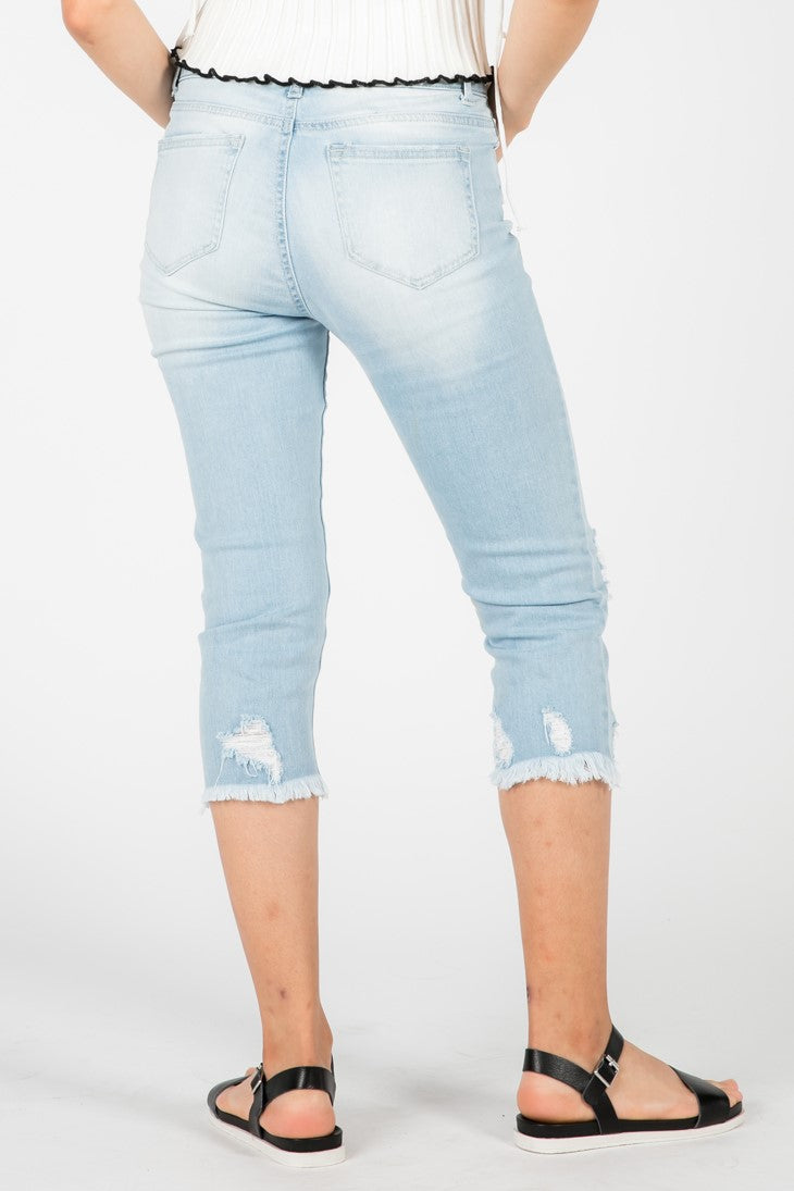 CAREY DISTRESSED CAPRI