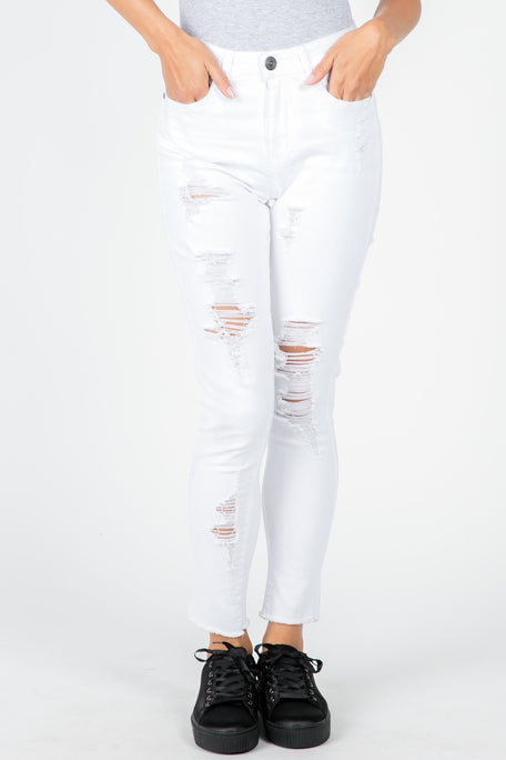 PARTY OF ONE WHITE JEANS