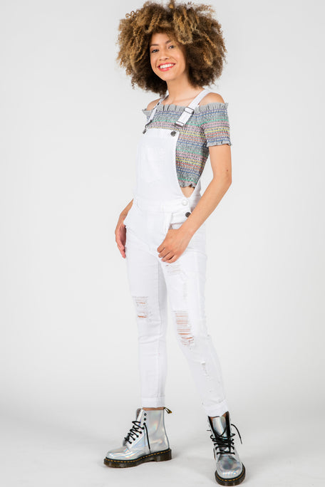 MILA WHITE OVERALL PANT