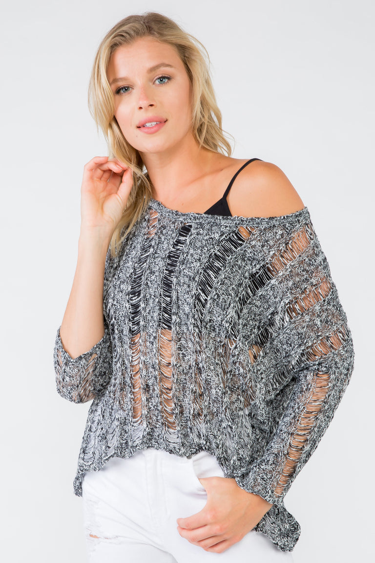 ELECTRICITY KNITTED TOP