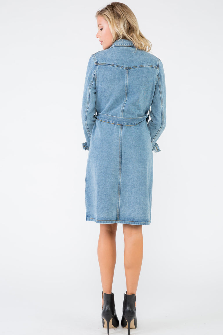 KATERYNA DENIM TRENCH COAT