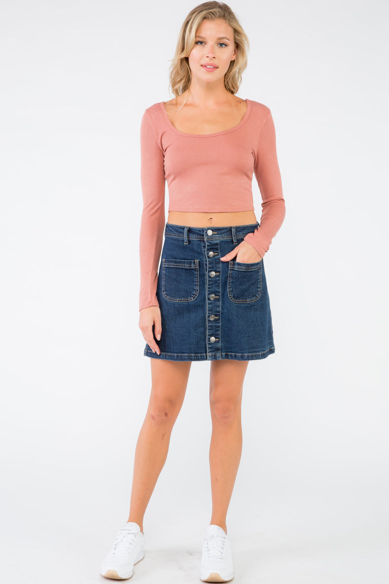 THIS IS ME DENIM SKIRT