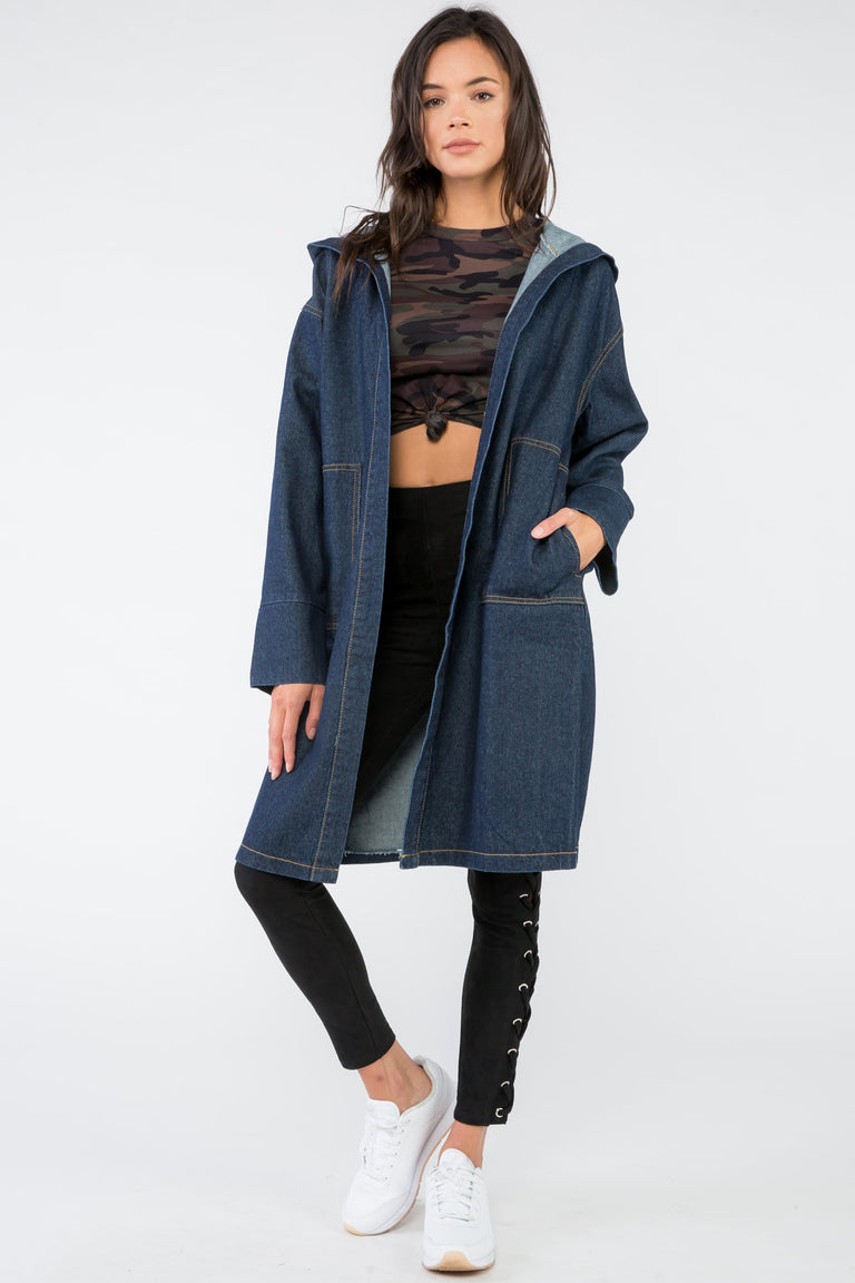 SAY MY NAME DENIM COAT