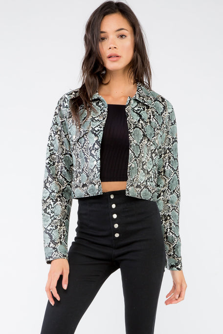 Anaconda Cropped Jacket