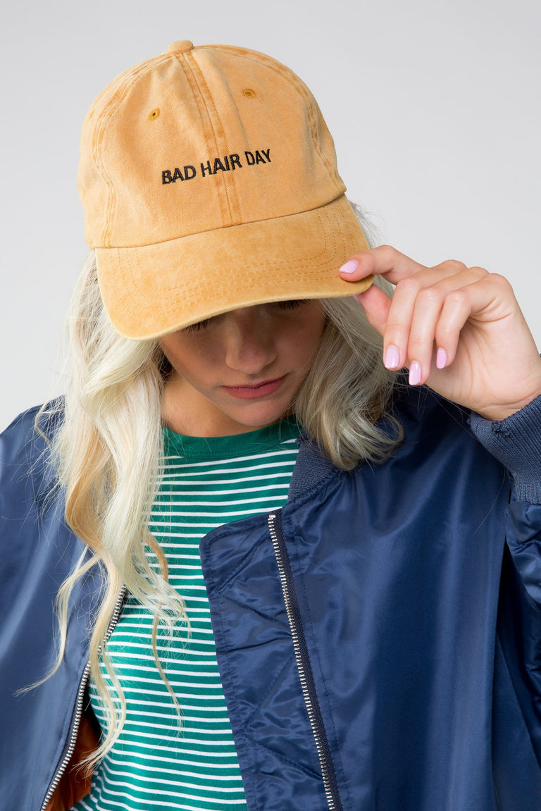 Accessories - BAD HAIR DAY CAP MUSTARD