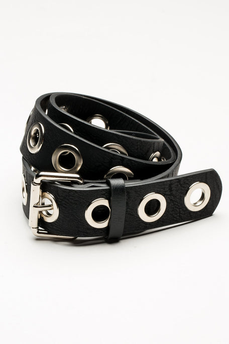 Accessories - BLACK GROMMET BELT