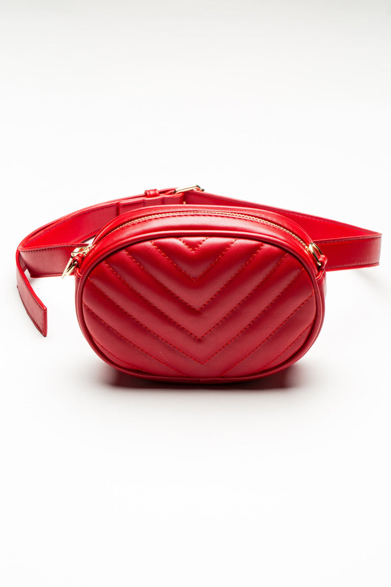 Accessories - CHEVRON QUILTED FANNY PACK