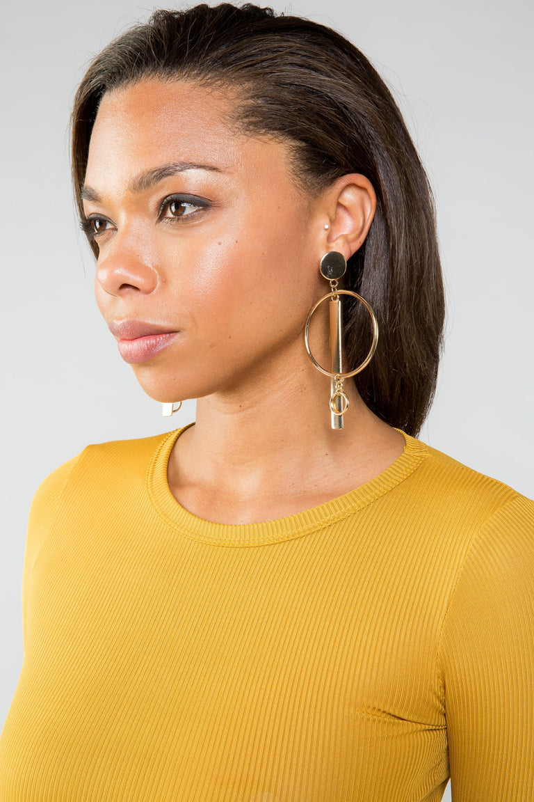 Accessories - CIRCLE BAR EARRINGS