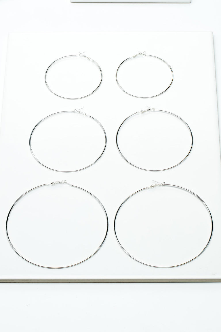 Accessories - CLASSIC LARGE HOOPS SET
